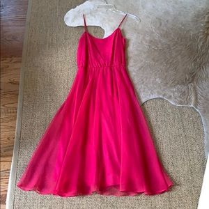 Dresses & Skirts - Hot pink girly dress (Vintage)